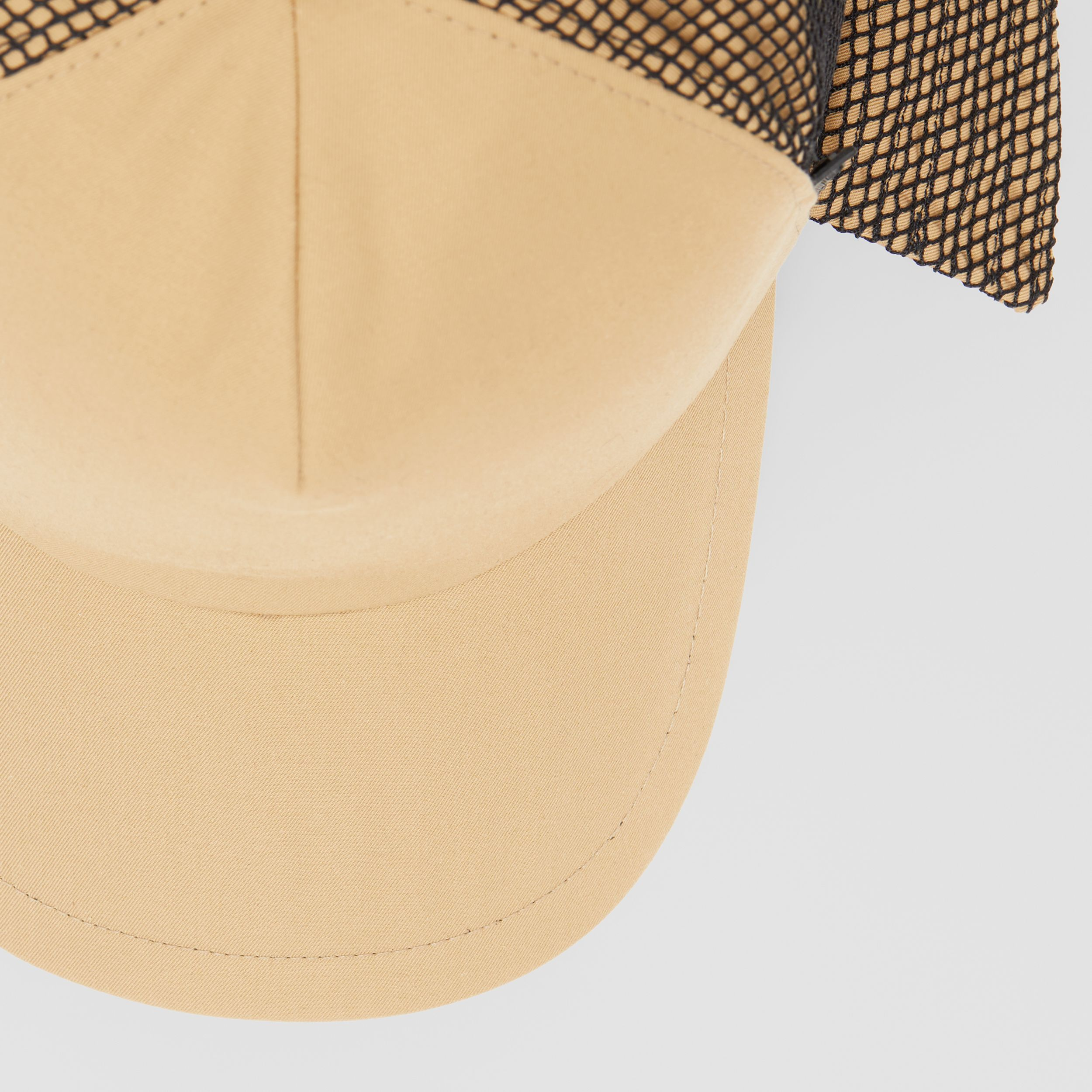 Cotton Gabardine Reconstructed Baseball Cap in Honey | Burberry - 2