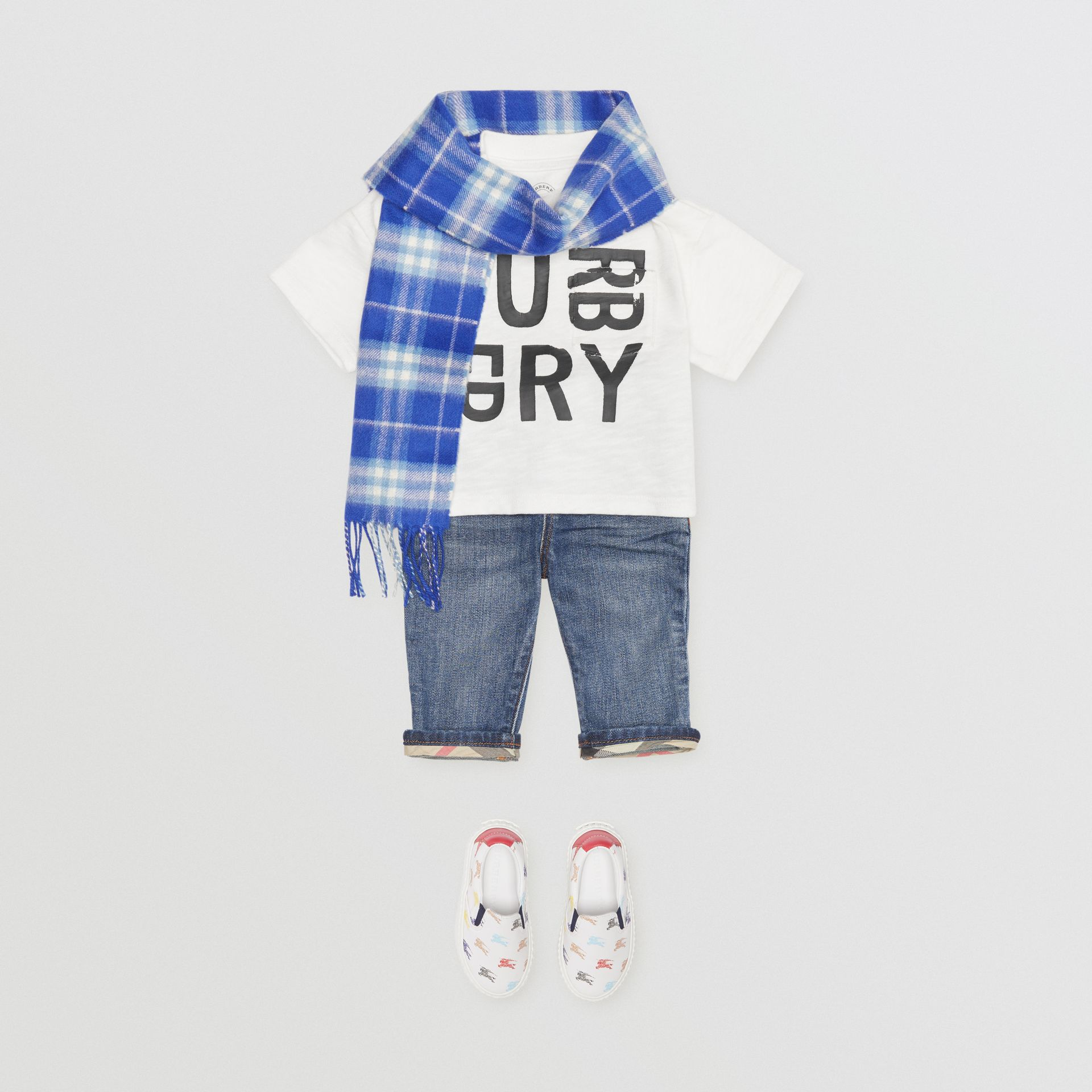 Jean casual en denim stretch (Indigo Moyen) - Enfant | Burberry - photo de la galerie 3