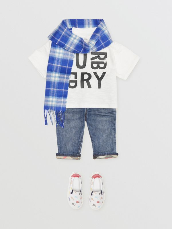 Jean casual en denim stretch (Indigo Moyen) - Enfant | Burberry - cell image 3