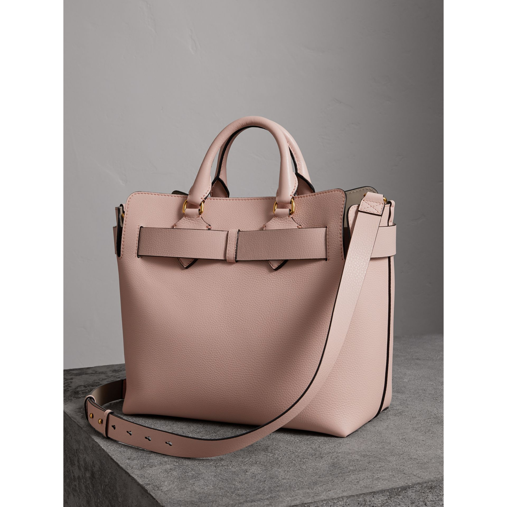 The Medium Leather Belt Bag in Pale Ash Rose - Women | Burberry United States - gallery image 4