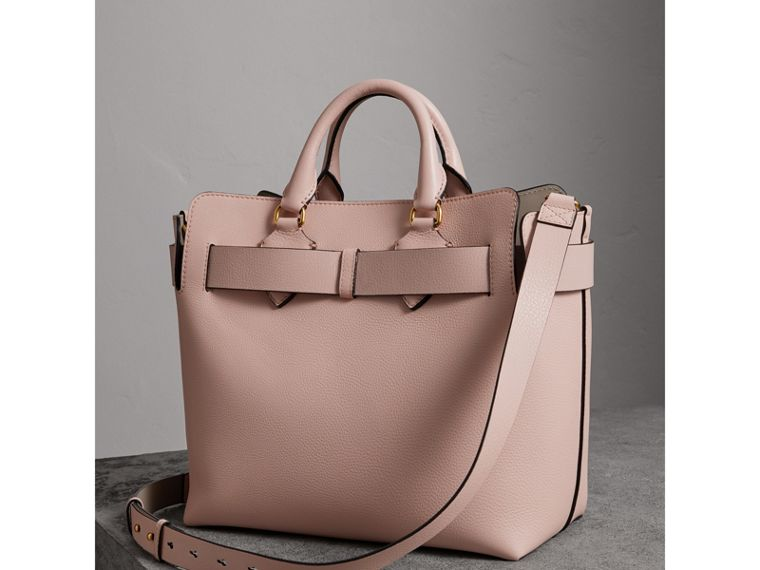 The Medium Leather Belt Bag in Pale Ash Rose - Women | Burberry United States - cell image 4