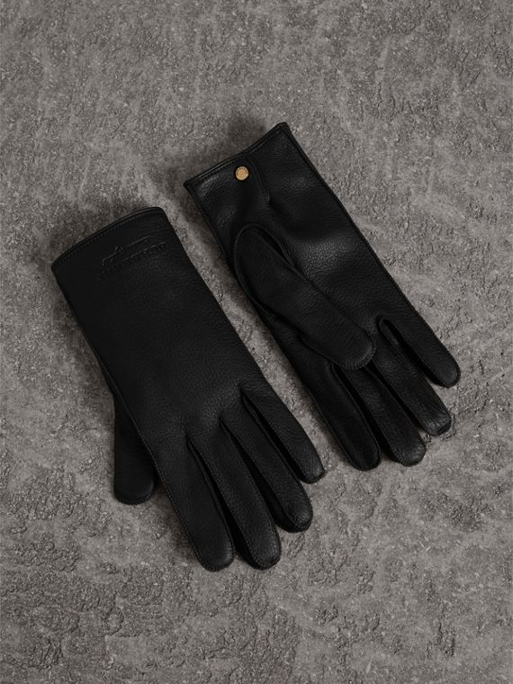 Deerskin Gloves in Black