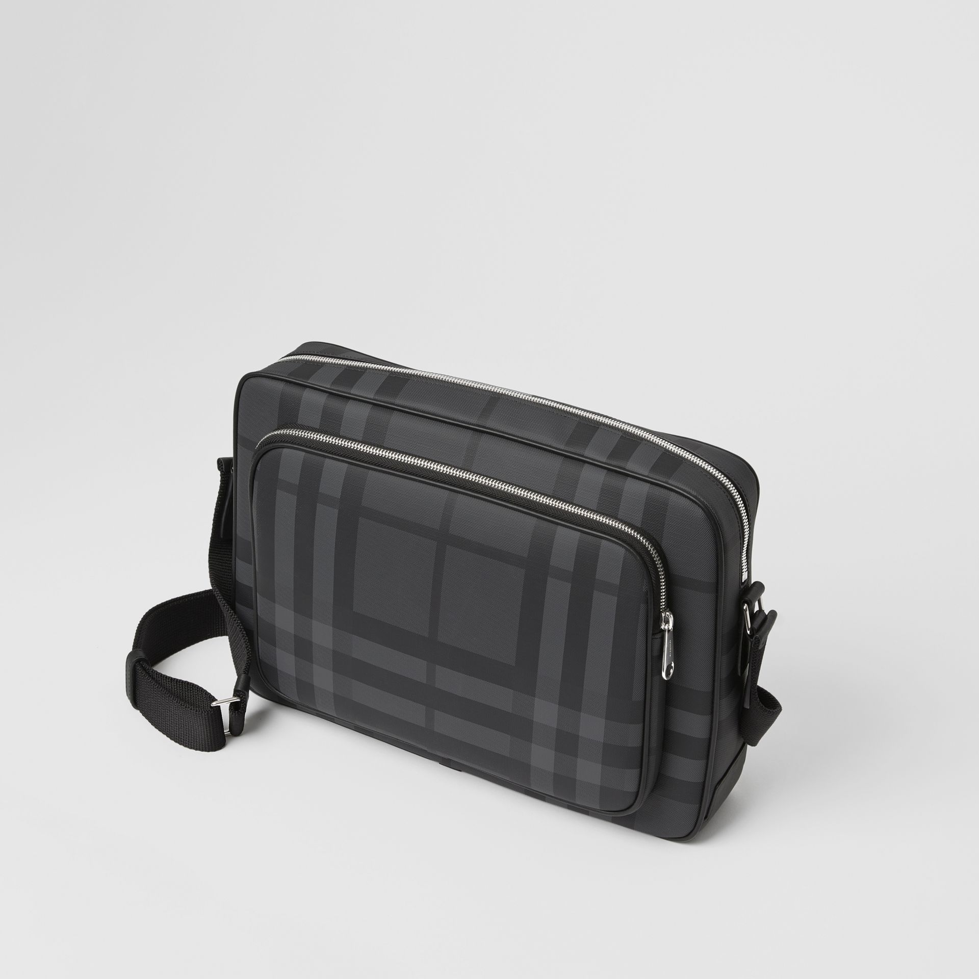 London Check Messenger Bag in Charcoal/black - Men | Burberry Singapore - gallery image 4