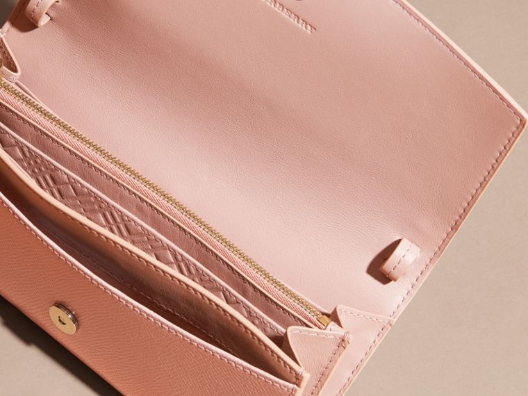 Leather Wallet with Chain in Ash Rose - cell image 4