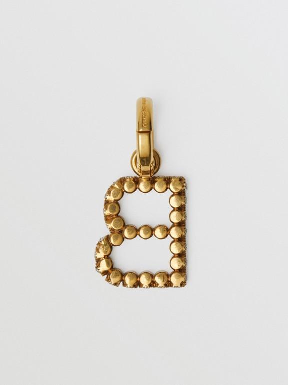Подвеска в виде буквы «B» с кристаллами (Кристалл) - Для женщин | Burberry - cell image 1