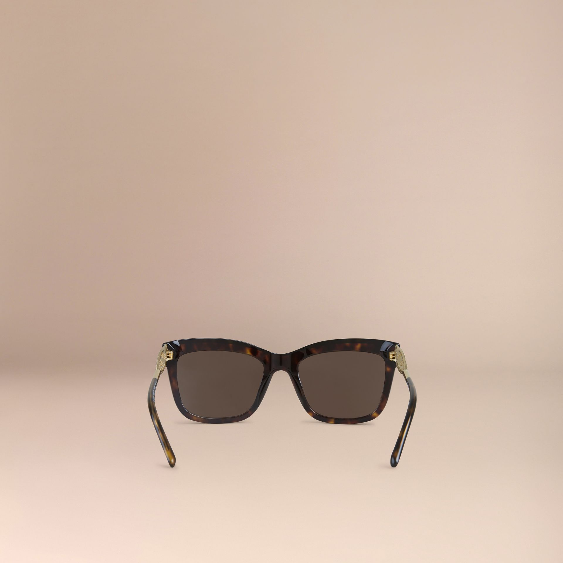 Gabardine Collection Square Frame Sunglasses Tortoise Shell - gallery image 3