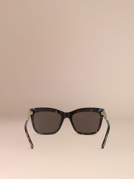 Gabardine Collection Square Frame Sunglasses in Tortoise Shell - cell image 2