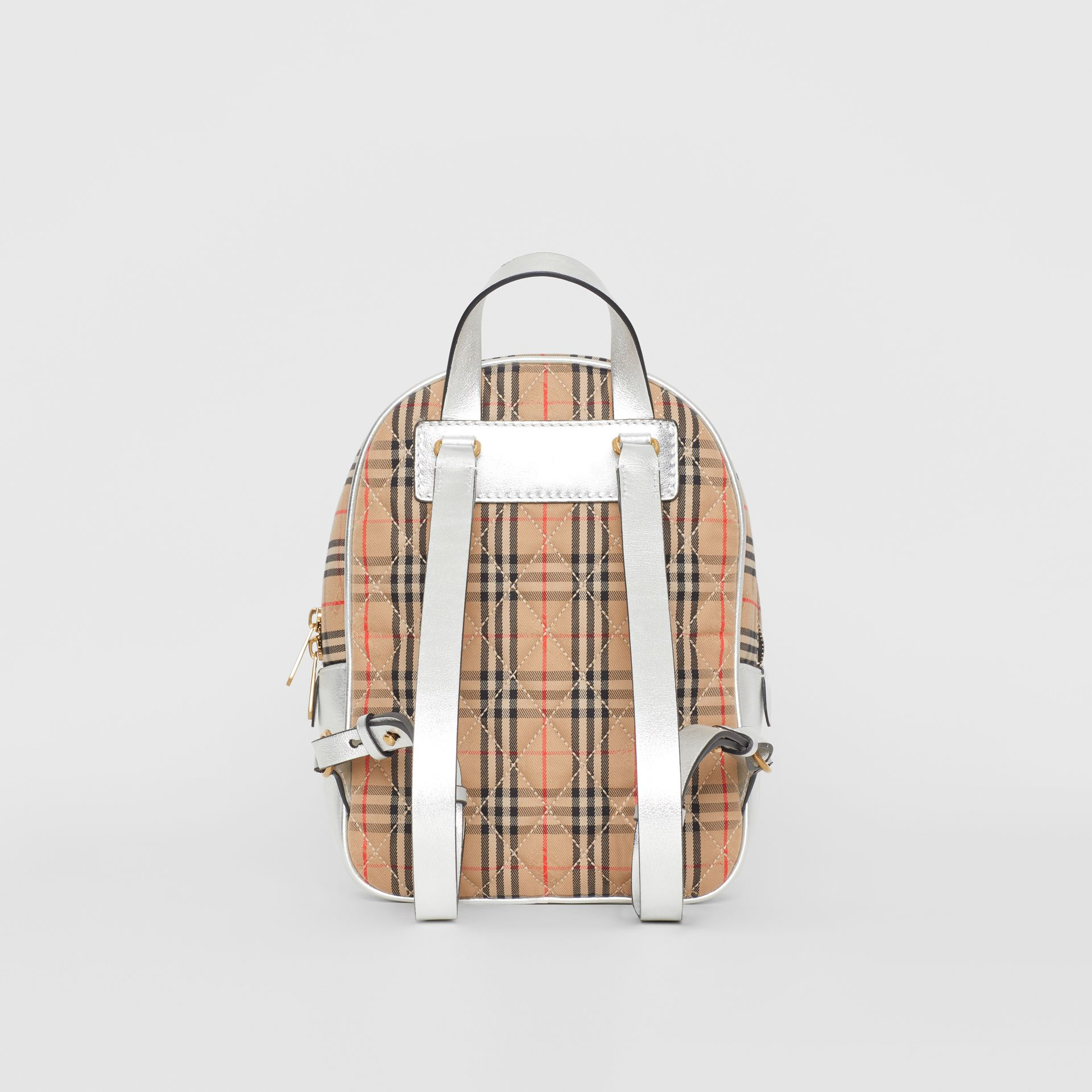 The 1983 Check Link Backpack in Silver - Women | Burberry United Kingdom - gallery image 5