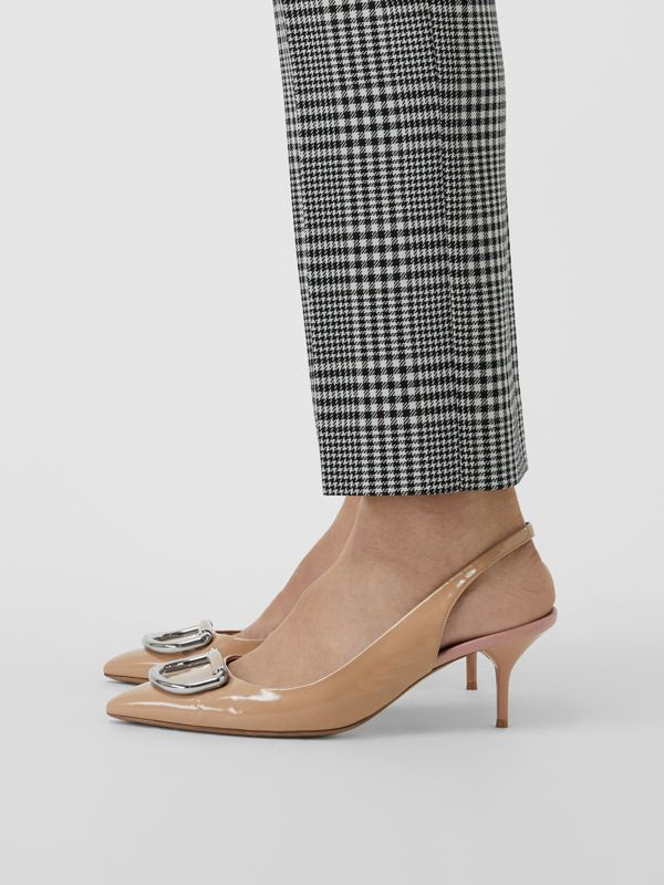 The Leather D-ring Slingback Pump in Nude Blush - Women | Burberry United Kingdom - cell image 2