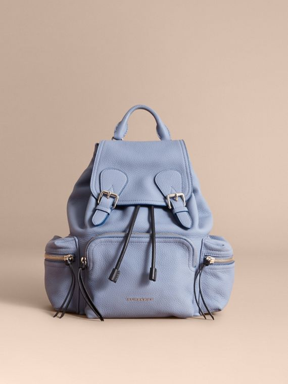 The Medium Rucksack in Deerskin with Resin Chain in Slate Blue - Women | Burberry
