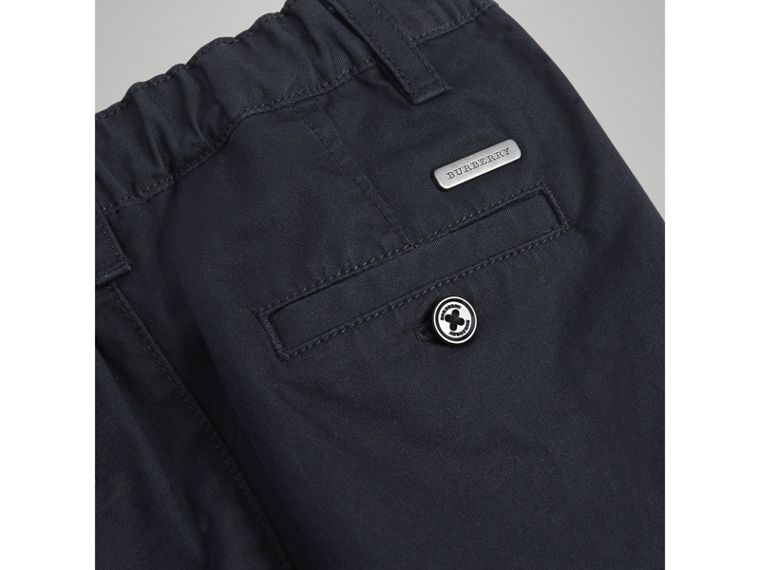 Cotton Twill Chinos in Ink | Burberry - cell image 1