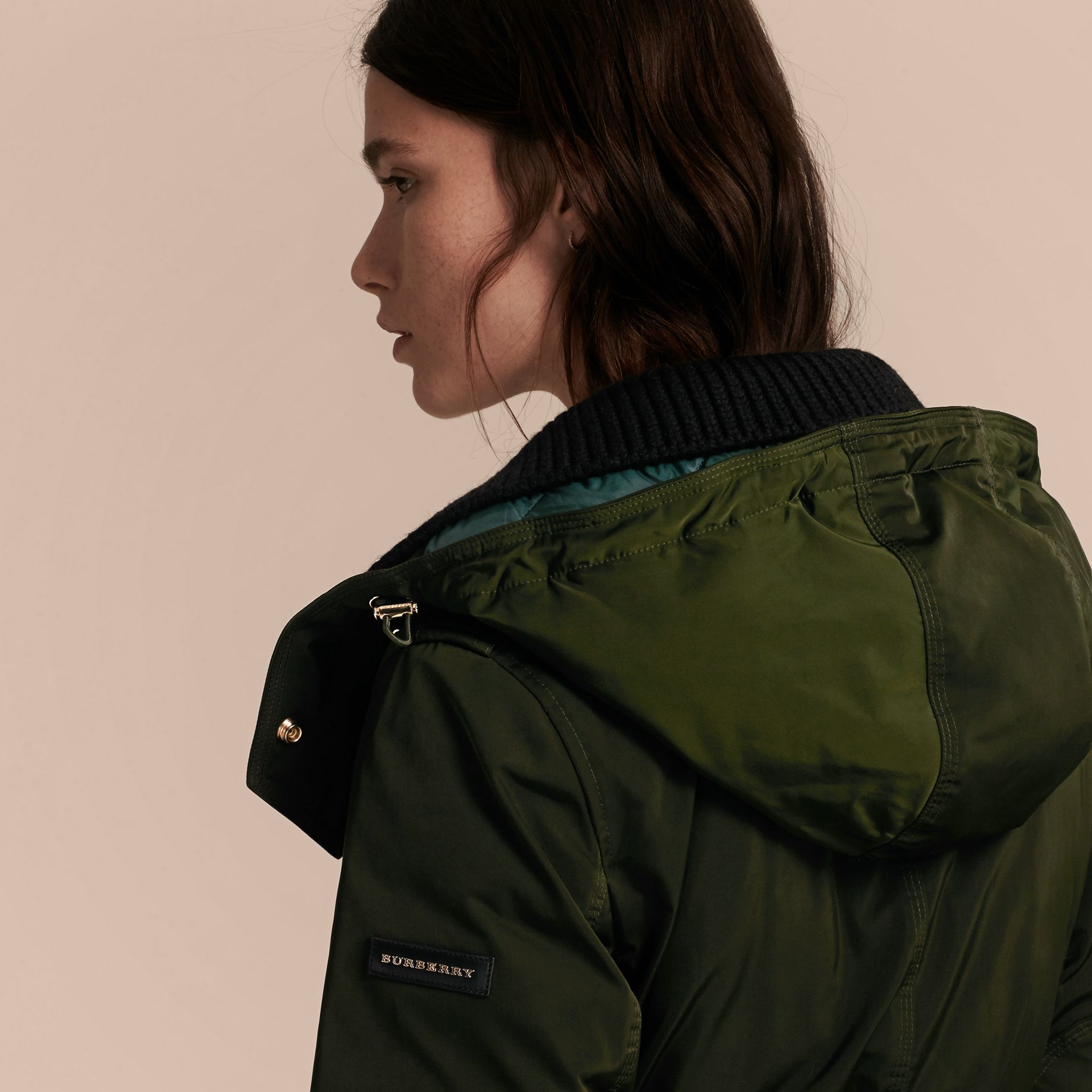 Dark cedar green Down-filled Parka Coat with Detachable Fur Trim Dark Cedar Green - gallery image 6