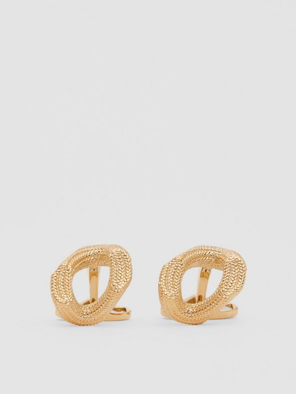Gold-plated Chain-link Cufflinks in Light