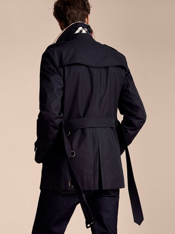 Navy The Kensington – Short Heritage Trench Coat Navy - cell image 2
