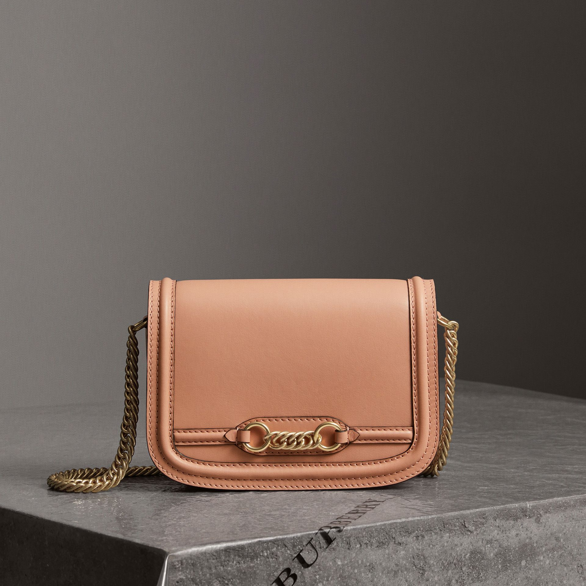 The Leather Link Bag in Peach - Women | Burberry Singapore - gallery image 0