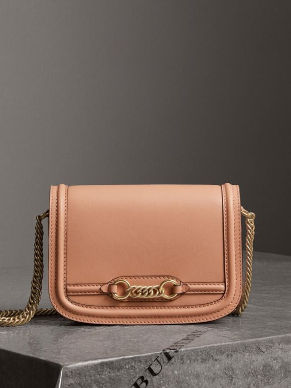 The Leather Link Bag in Peach