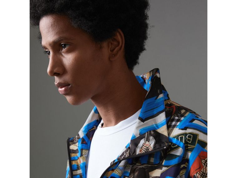 Graffiti Archive Scarf Print Shell Jacket in Antique Yellow - Men | Burberry Hong Kong - cell image 1