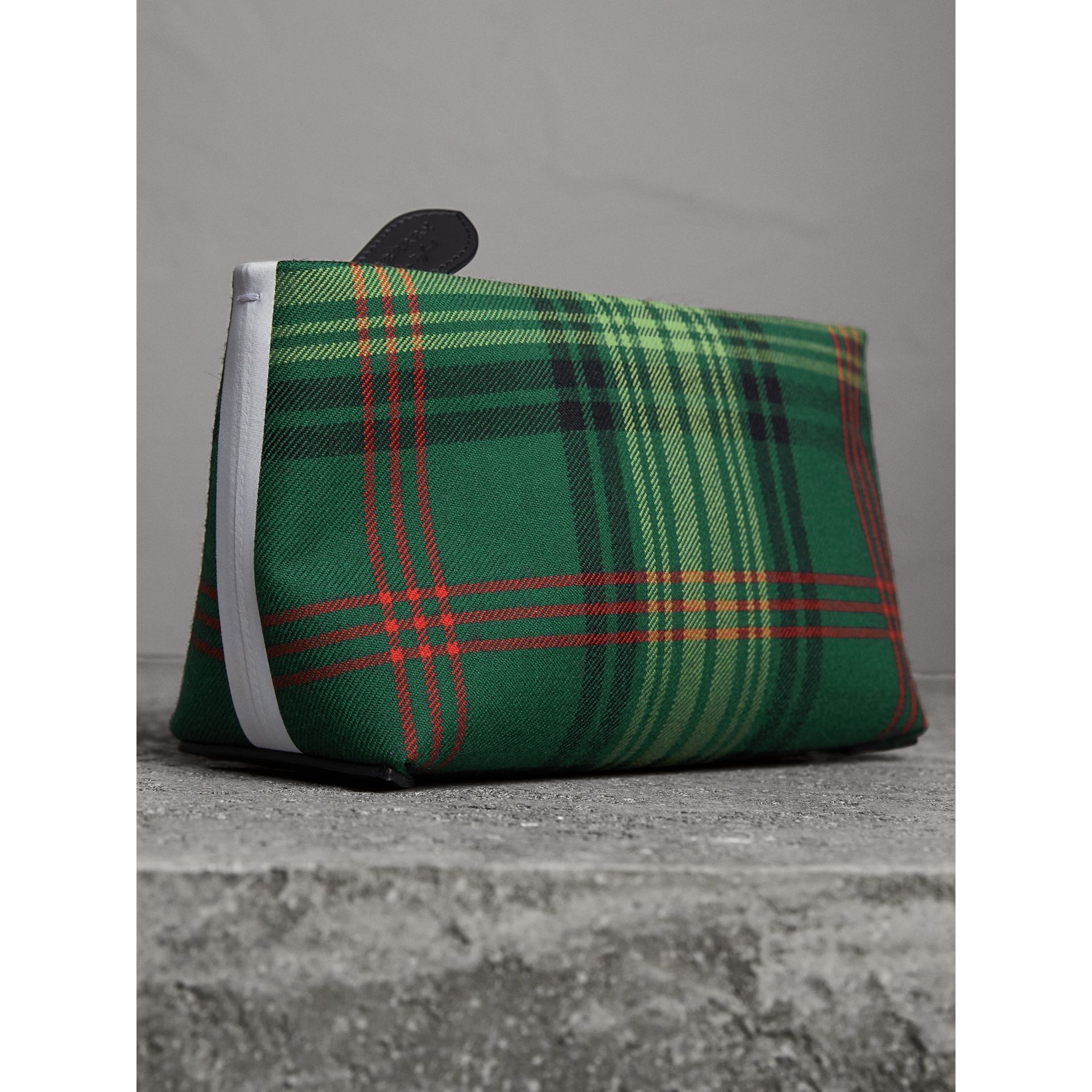 Tartan Cotton Clutch in Pine Green/blue | Burberry Australia - gallery image 7