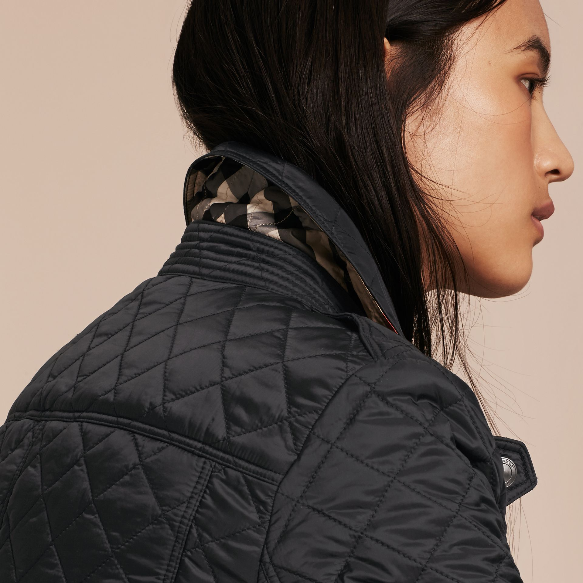 Black Diamond Quilted Jacket Black - gallery image 5