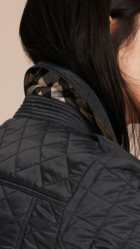 Black Diamond Quilted Jacket Black - Image 5