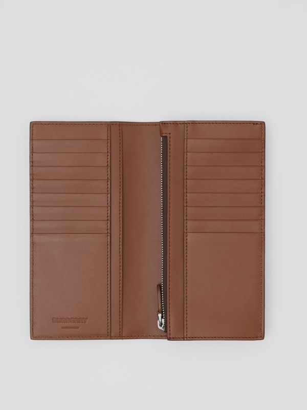 Monogram Leather Continental Wallet in Dark Tan - Men | Burberry - cell image 3