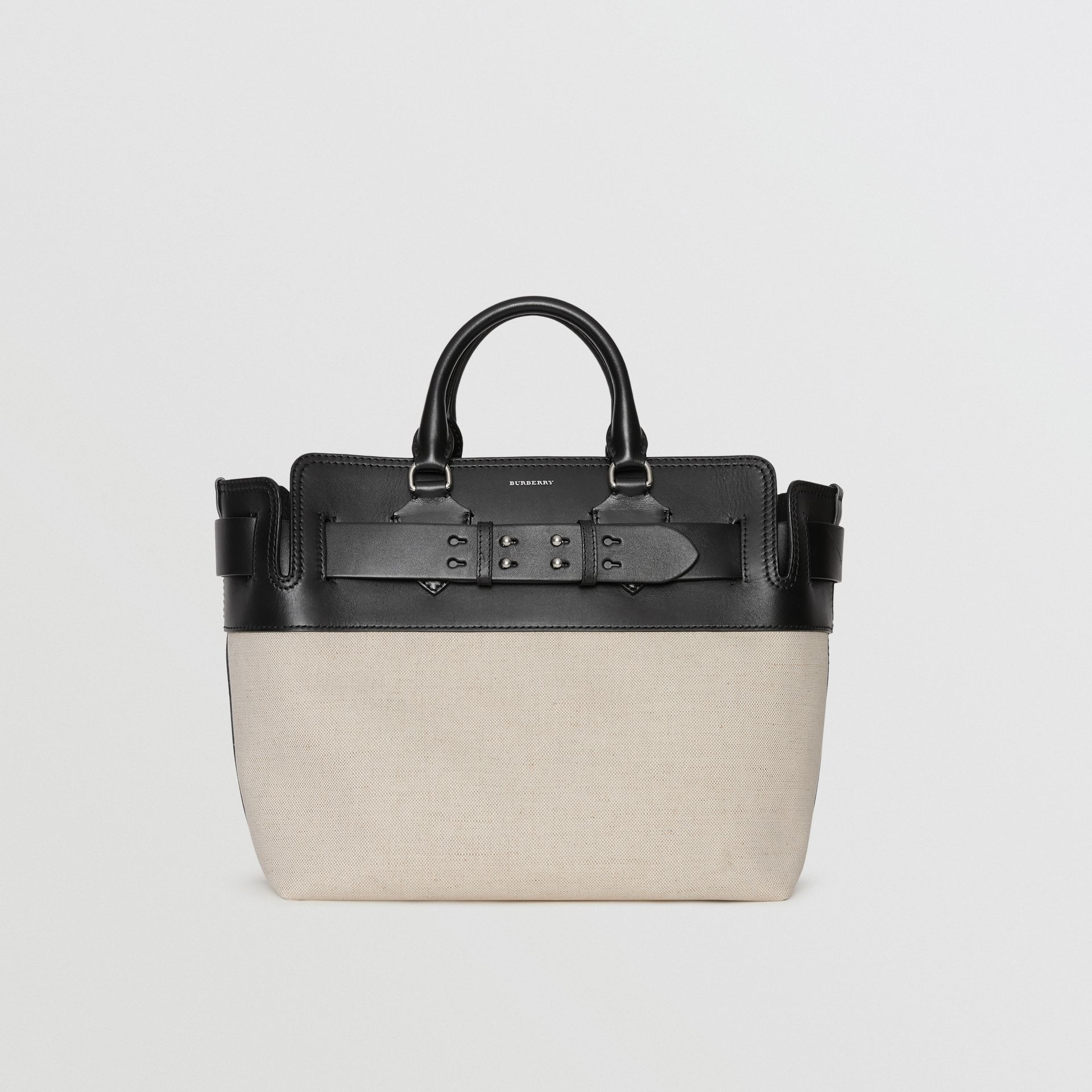 The Medium Canvas and Leather Belt Bag in Black/stone - Women | Burberry - gallery image 5