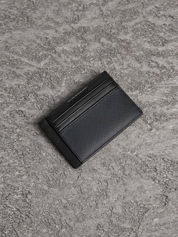 Porte-cartes Smoked check (Marine/noir)