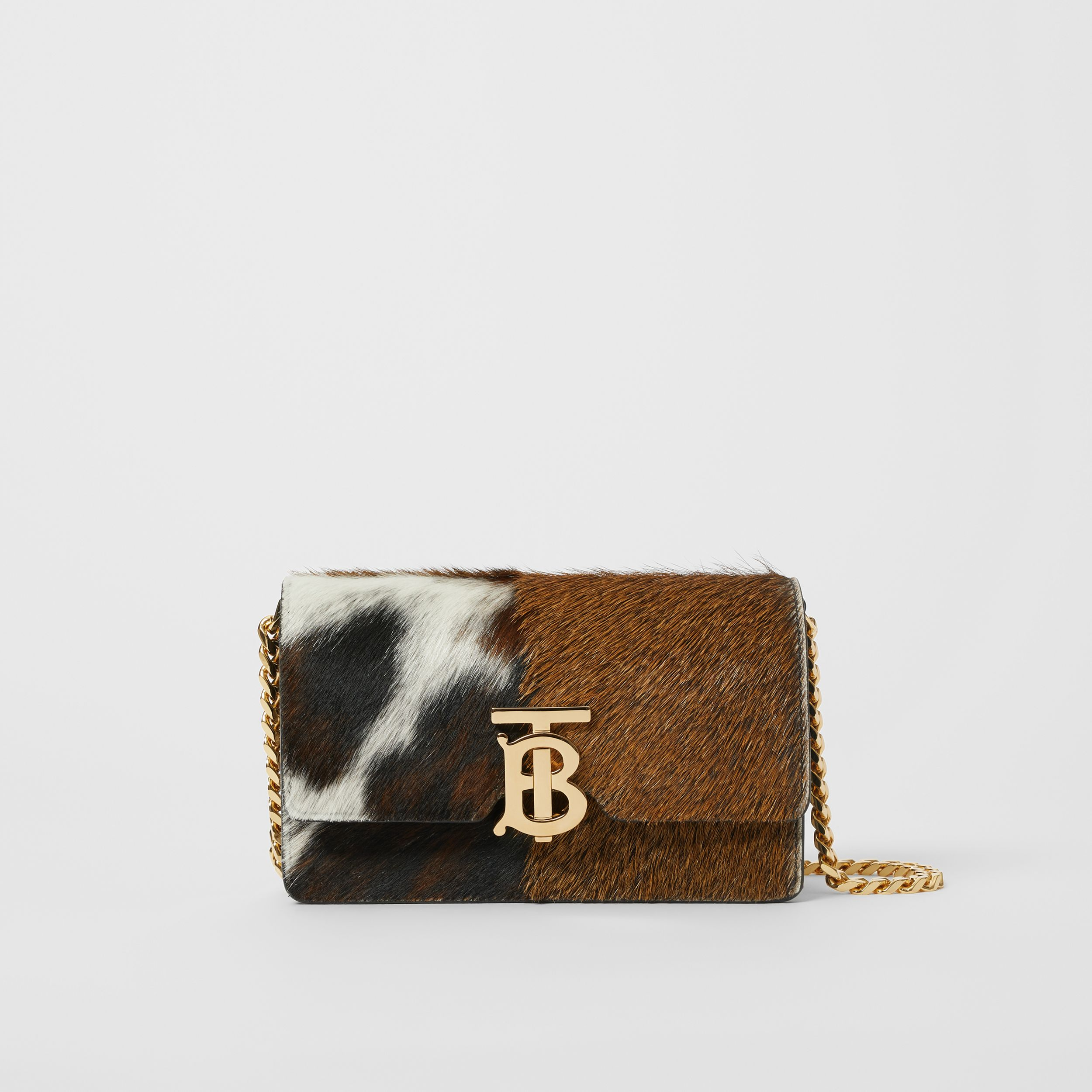 Mini Calf Hair and Leather Shoulder Bag in Black - Women | Burberry - 1