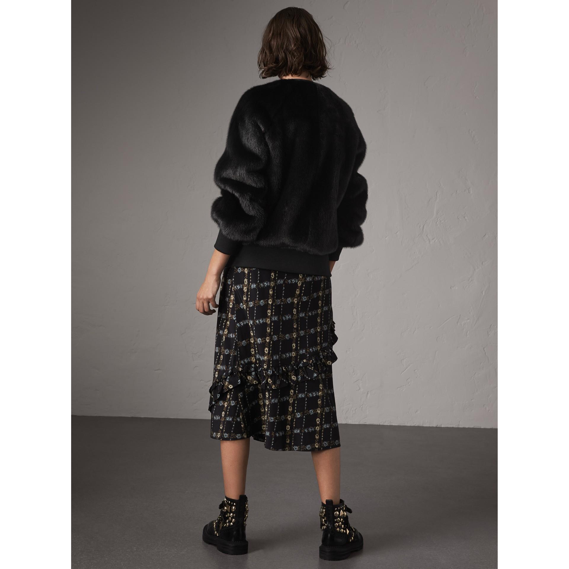 밍크 보머 재킷 (블랙) - 여성 | Burberry - 갤러리 이미지 3