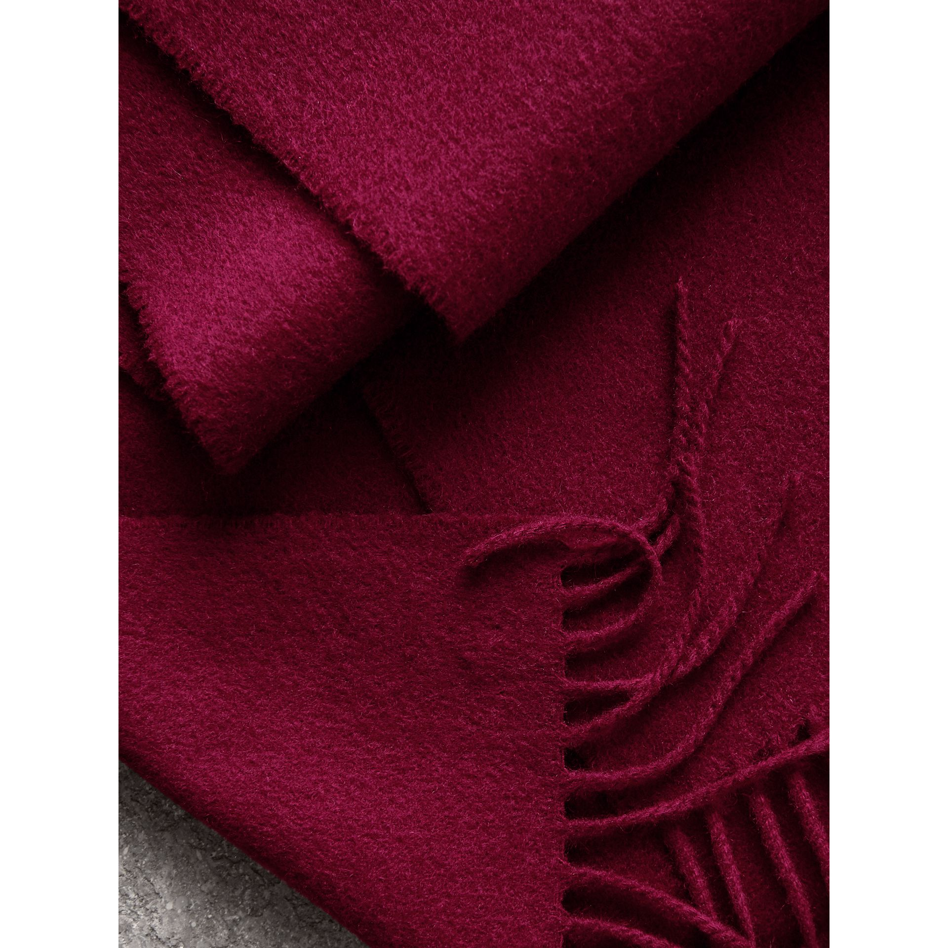 The Classic Cashmere Scarf in Plum | Burberry - gallery image 5