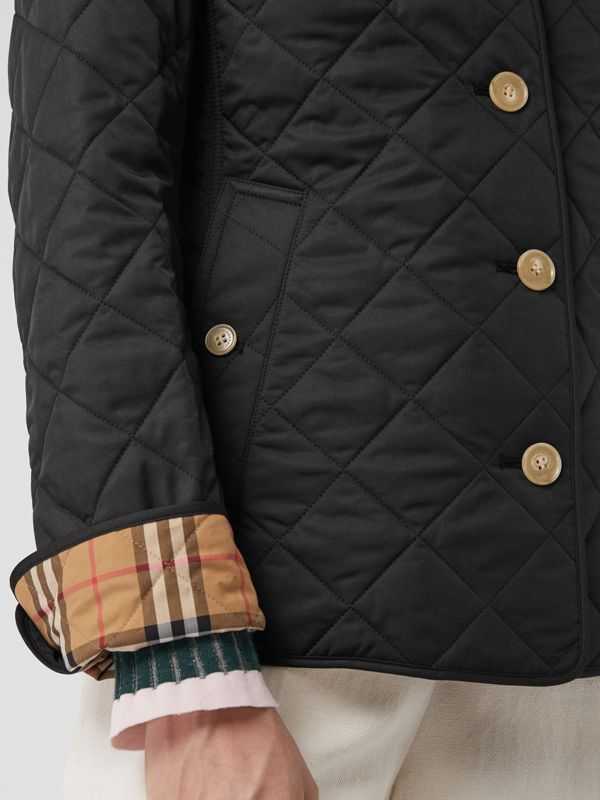 Diamond Quilted Jacket in Black - Women | Burberry Singapore - cell image 3