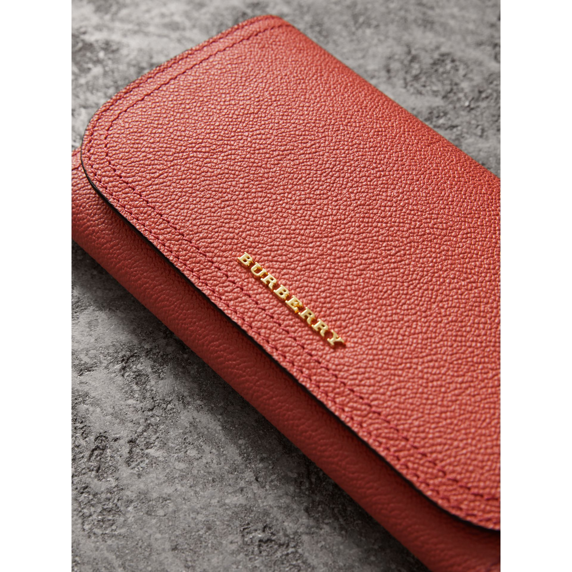 Two-tone Leather Continental Wallet and Coin Case in Cinnamon Red/multi - Women | Burberry - gallery image 1