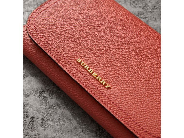 Two-tone Leather Continental Wallet and Coin Case in Cinnamon Red/multi - Women | Burberry - cell image 1