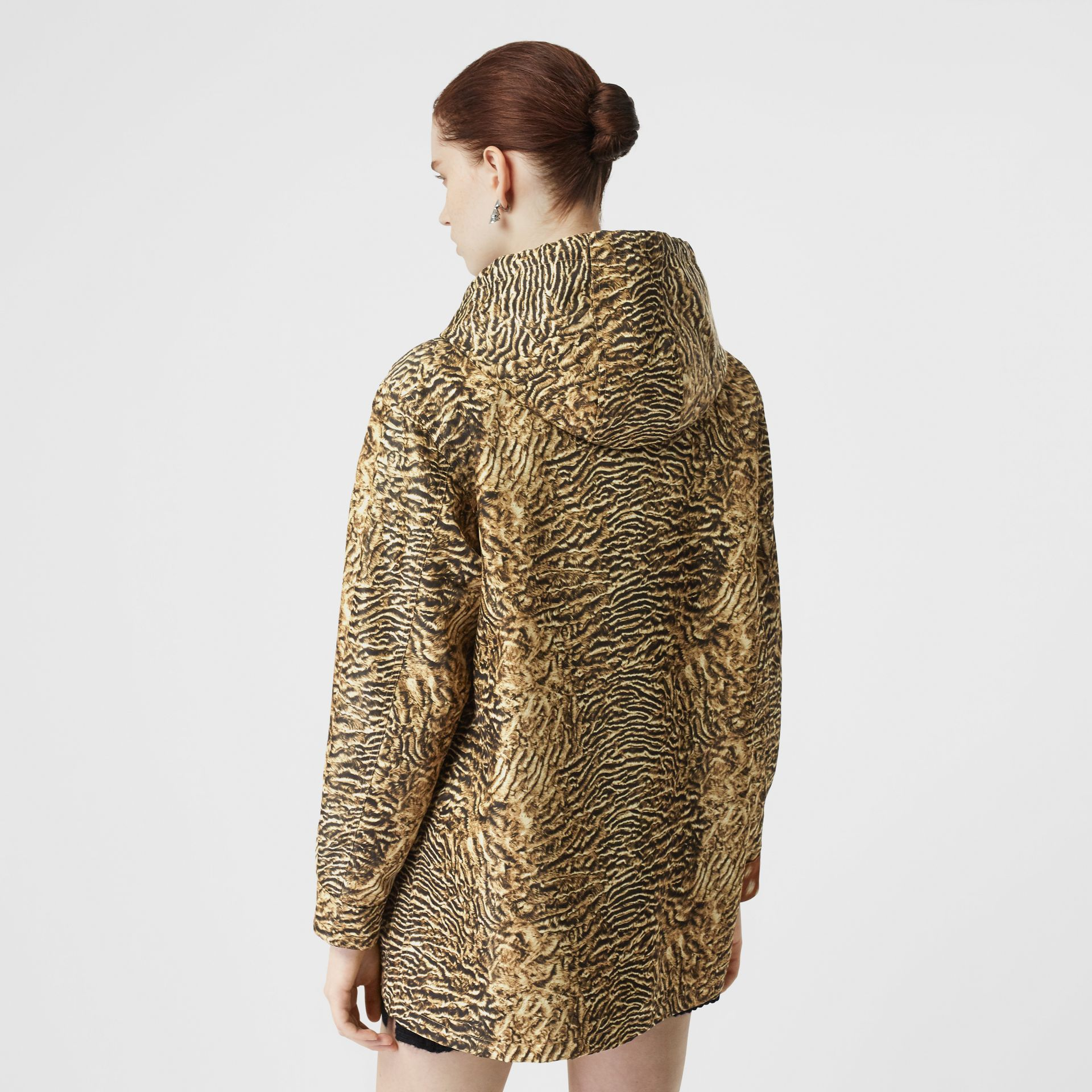 Tiger Print Lightweight Hooded Jacket in Beige - Women | Burberry - gallery image 2