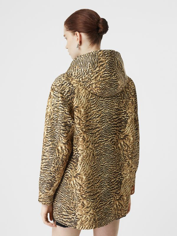 Tiger Print Lightweight Hooded Jacket in Beige - Women | Burberry - cell image 2
