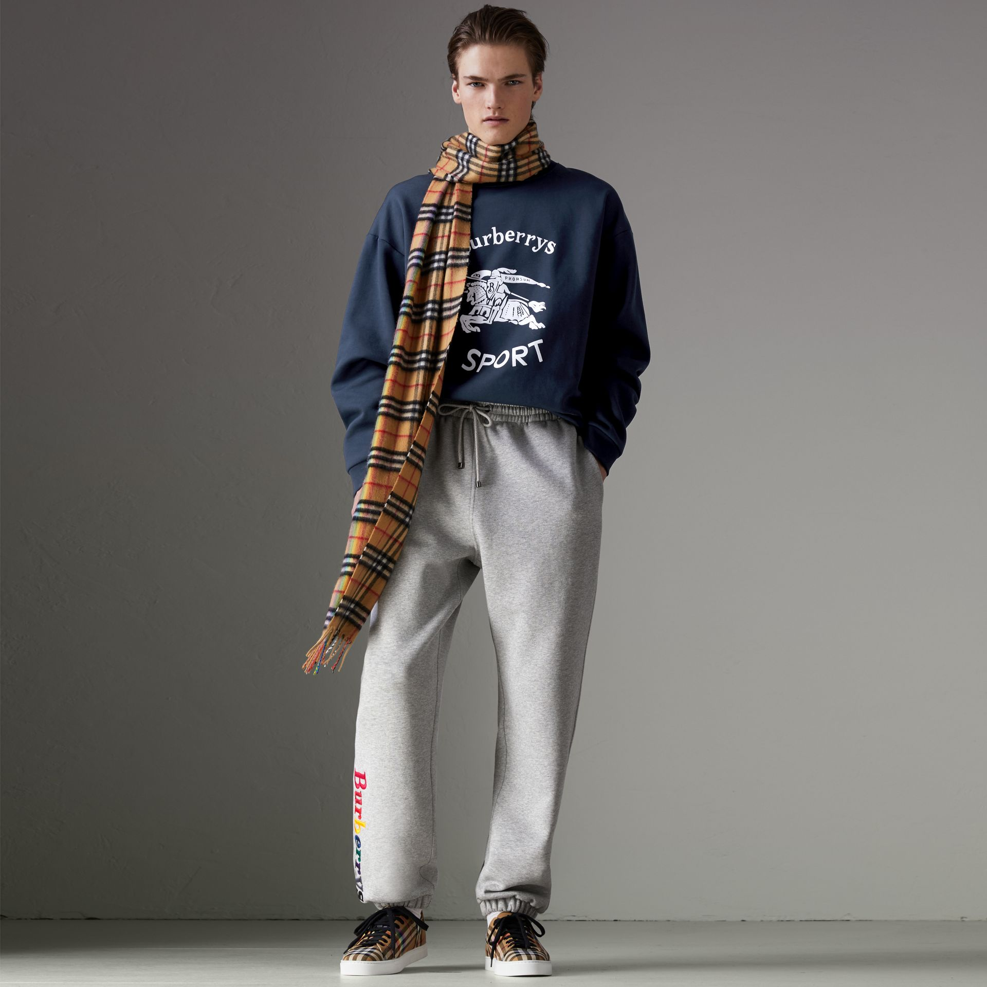 Reissued Jersey Sweatshirt in Navy Blue - Men | Burberry - gallery image 5