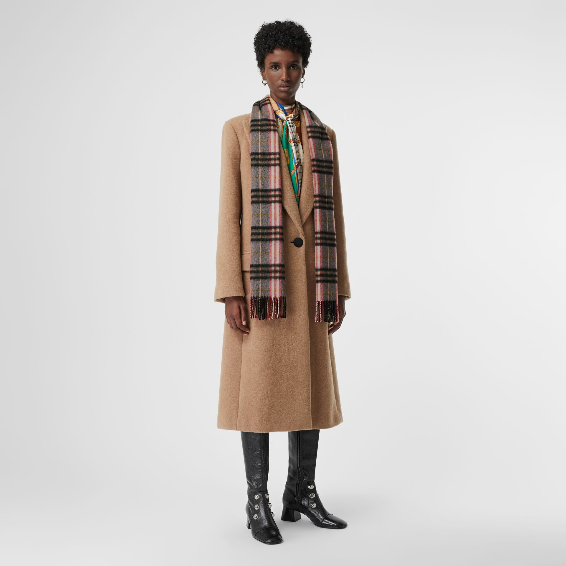 Check Cashmere Scarf in Ash Rose | Burberry - gallery image 2