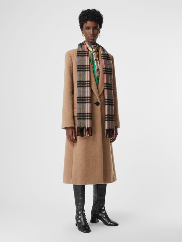 Check Cashmere Scarf in Ash Rose | Burberry - cell image 2