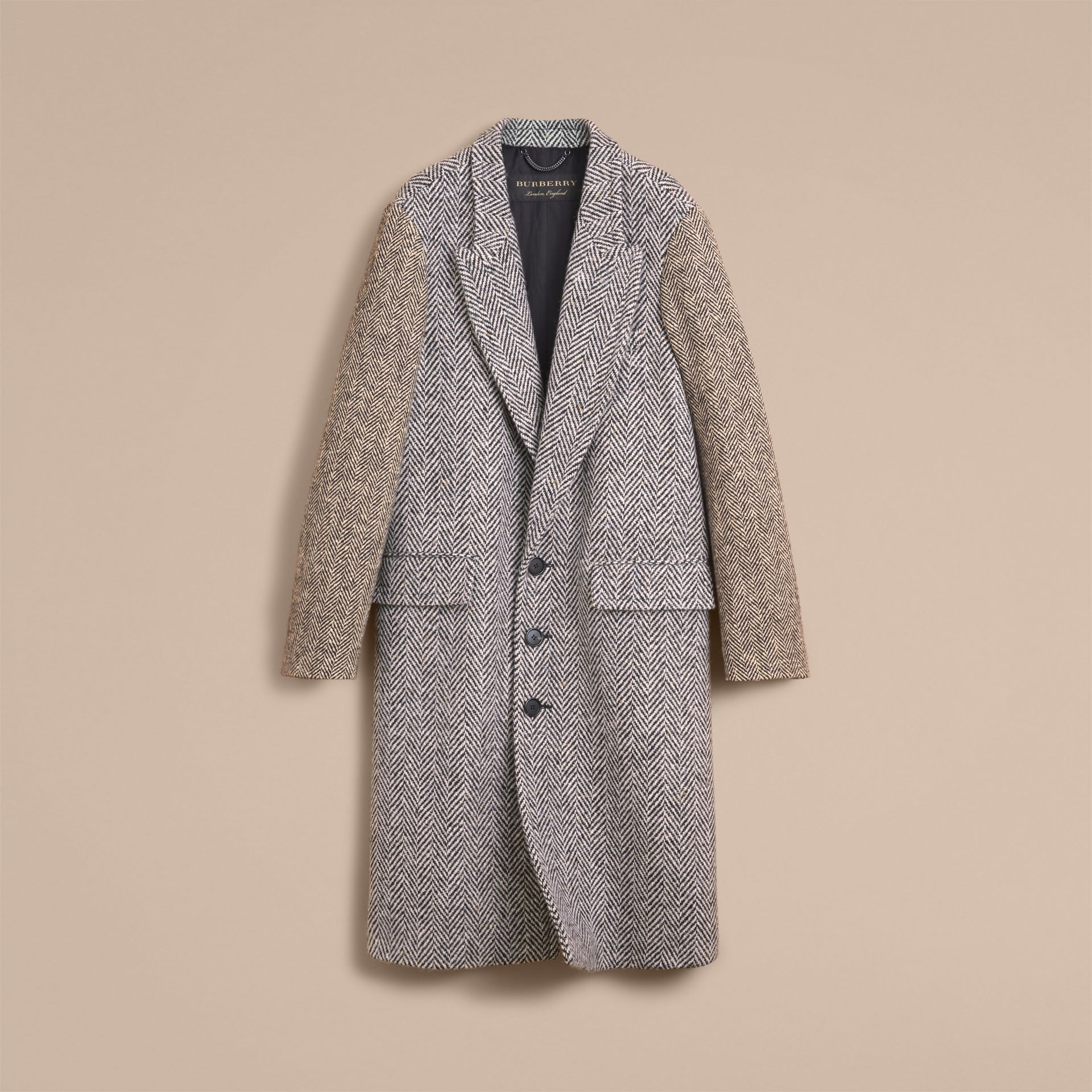 Donegal Herringbone Wool Tweed Chesterfield - Men | Burberry - gallery image 4