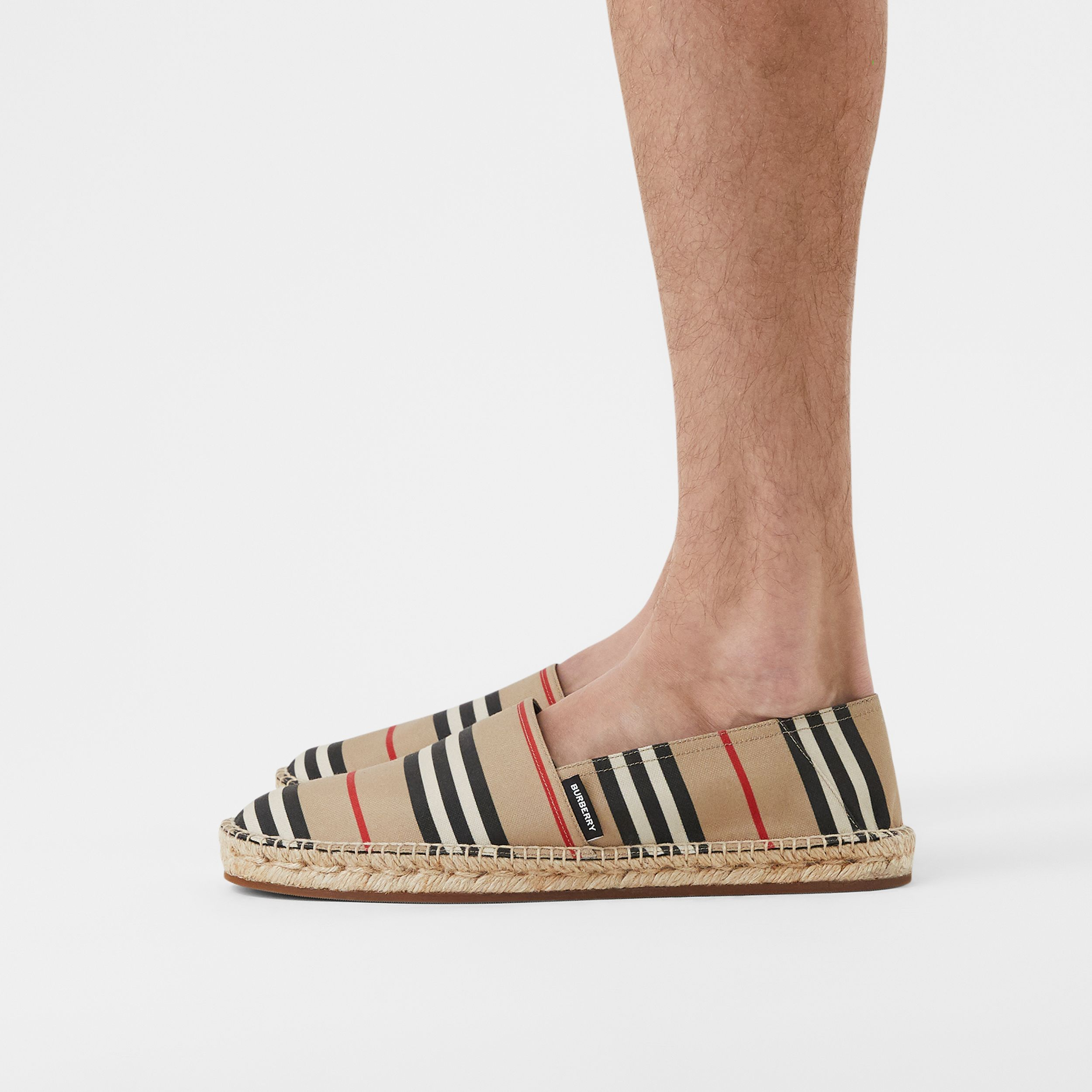 Icon Stripe Espadrilles in Archive Beige - Men | Burberry Canada - 3