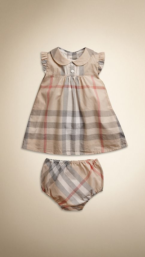 Pale classic check Washed Check Cotton Dress - Image 1