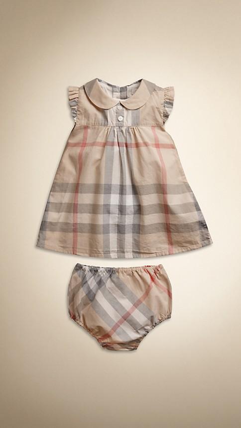 Classic check pâle Robe en coton en check délavé - Image 1