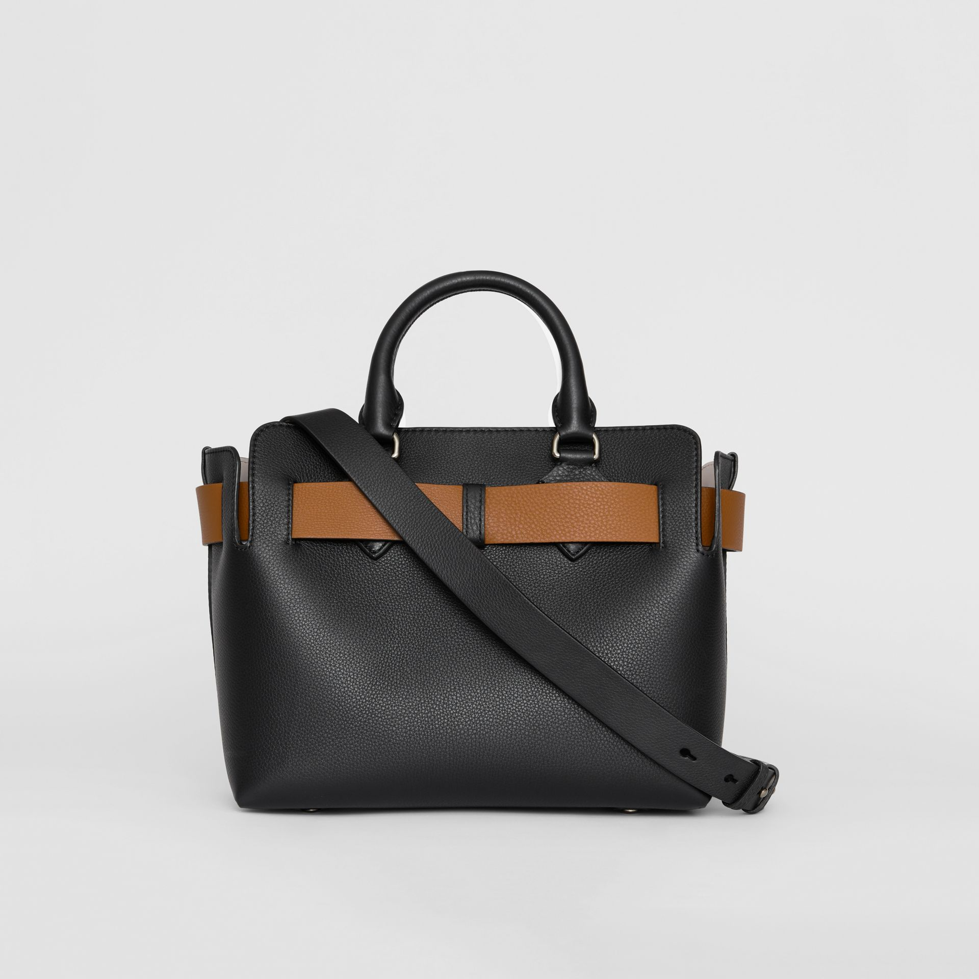 The Small Leather Belt Bag in Black - Women | Burberry United States - gallery image 7