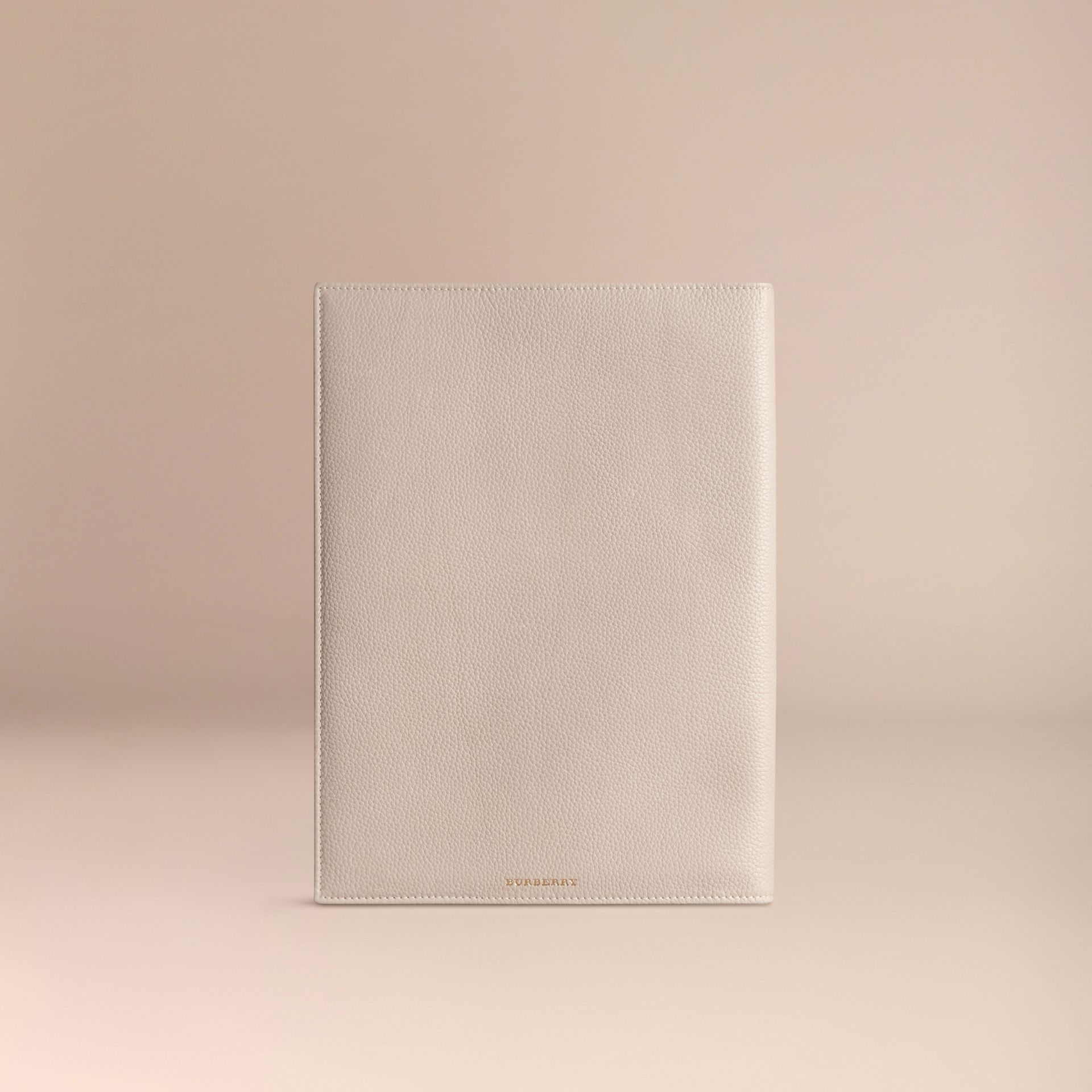 Grainy Leather A4 Notebook in Stone - gallery image 4