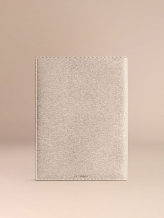 Grainy Leather A4 Notebook in Stone | Burberry - cell image 3