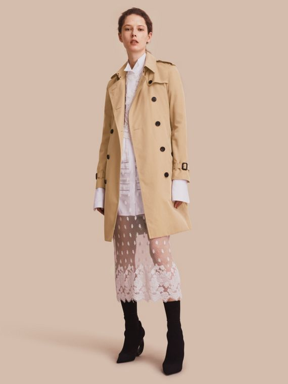 The Kensington - Trench coat Heritage lungo Miele