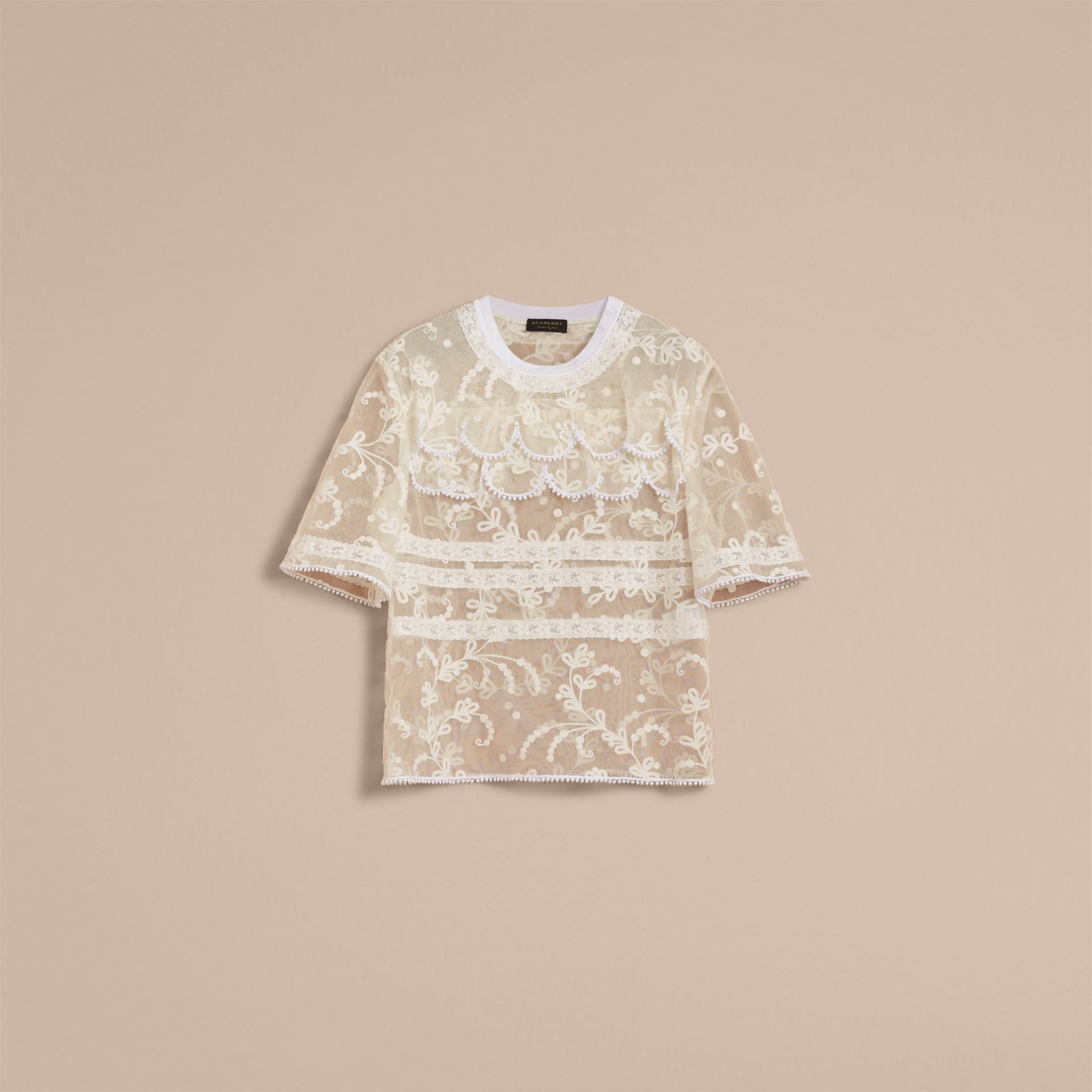Tiered Soutache Lace T-shirt - Men | Burberry - gallery image 4