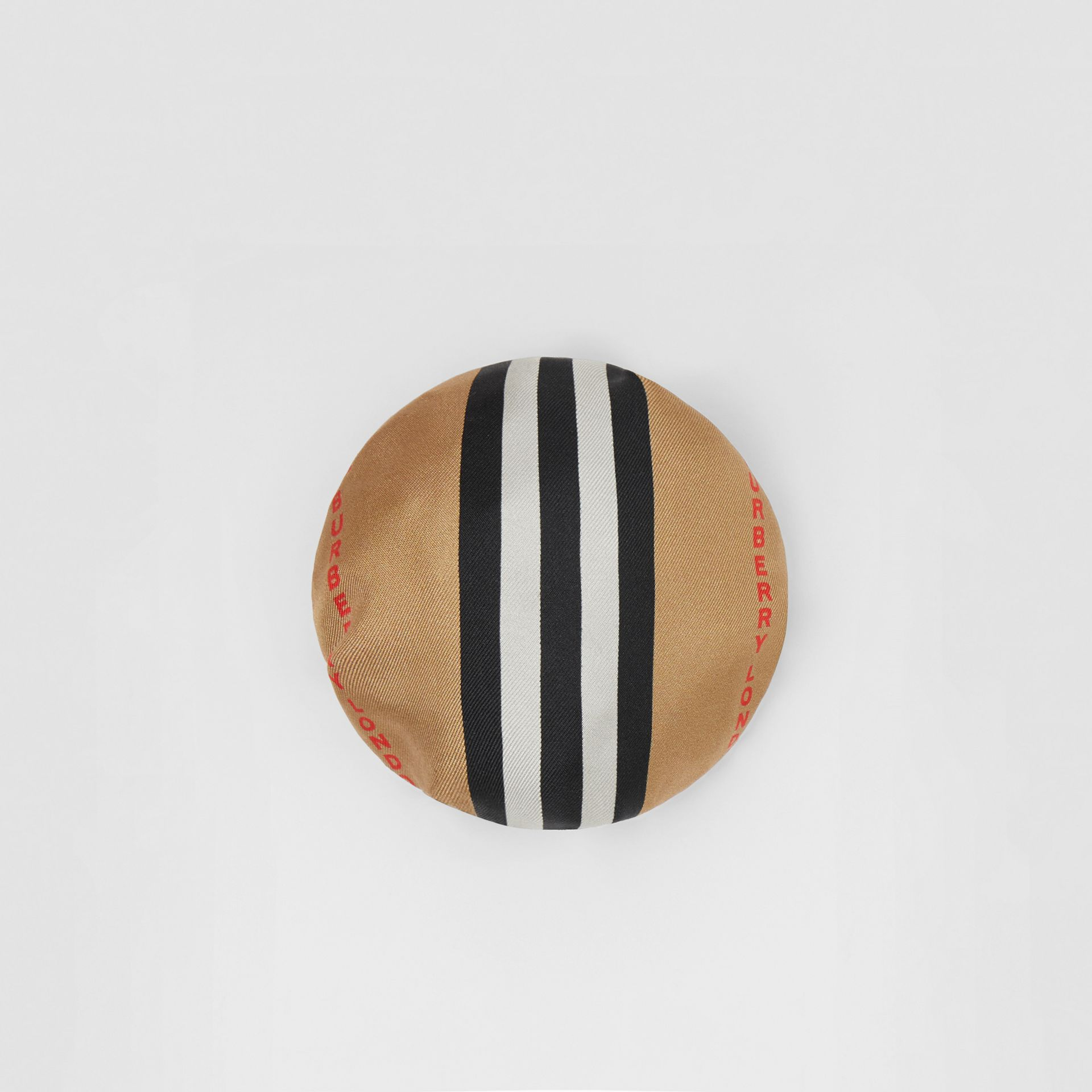 Icon Stripe Silk Chignon Cover in Beige | Burberry Hong Kong S.A.R - gallery image 0