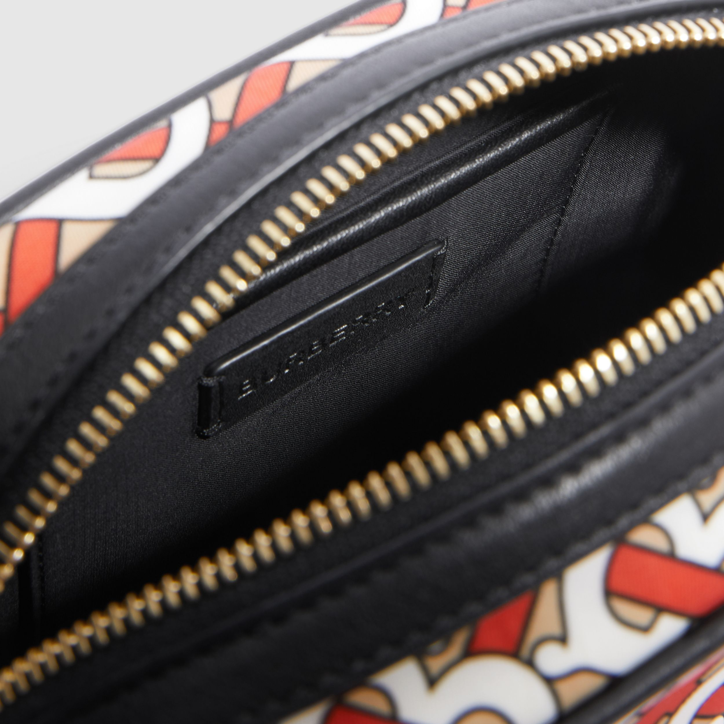 Monogram Print ECONYL® Camera Bag in Vermilion - Children | Burberry United States - 4