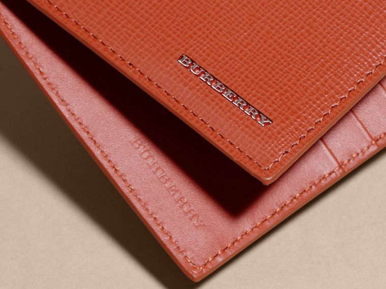 London Leather Folding Wallet Burnt Sienna - cell image 1